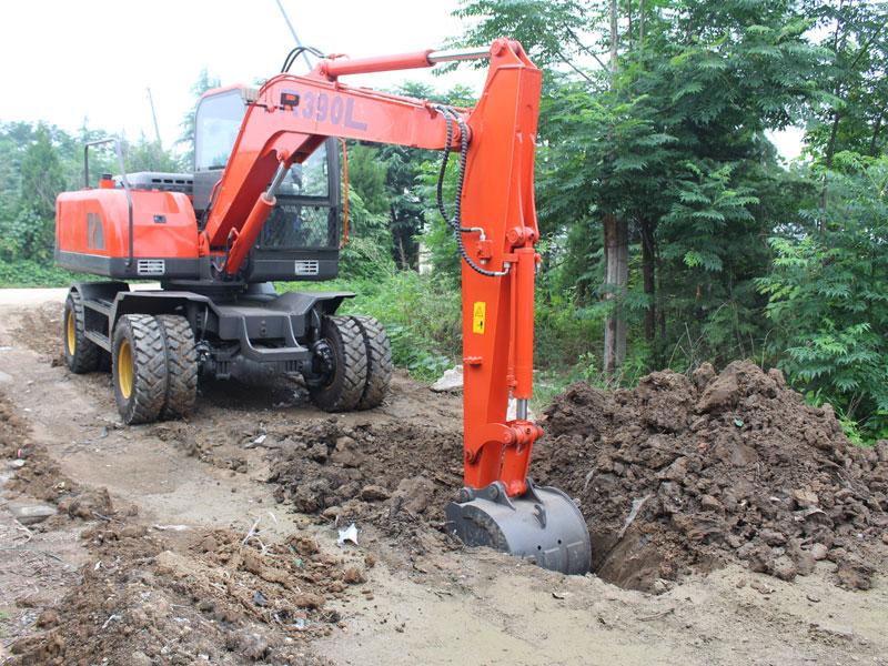 Construction case of wheel excavator