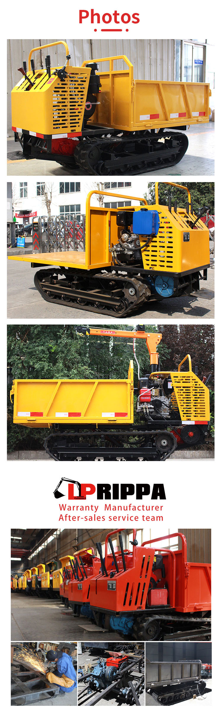 1.5T crawler truck-Rippa China