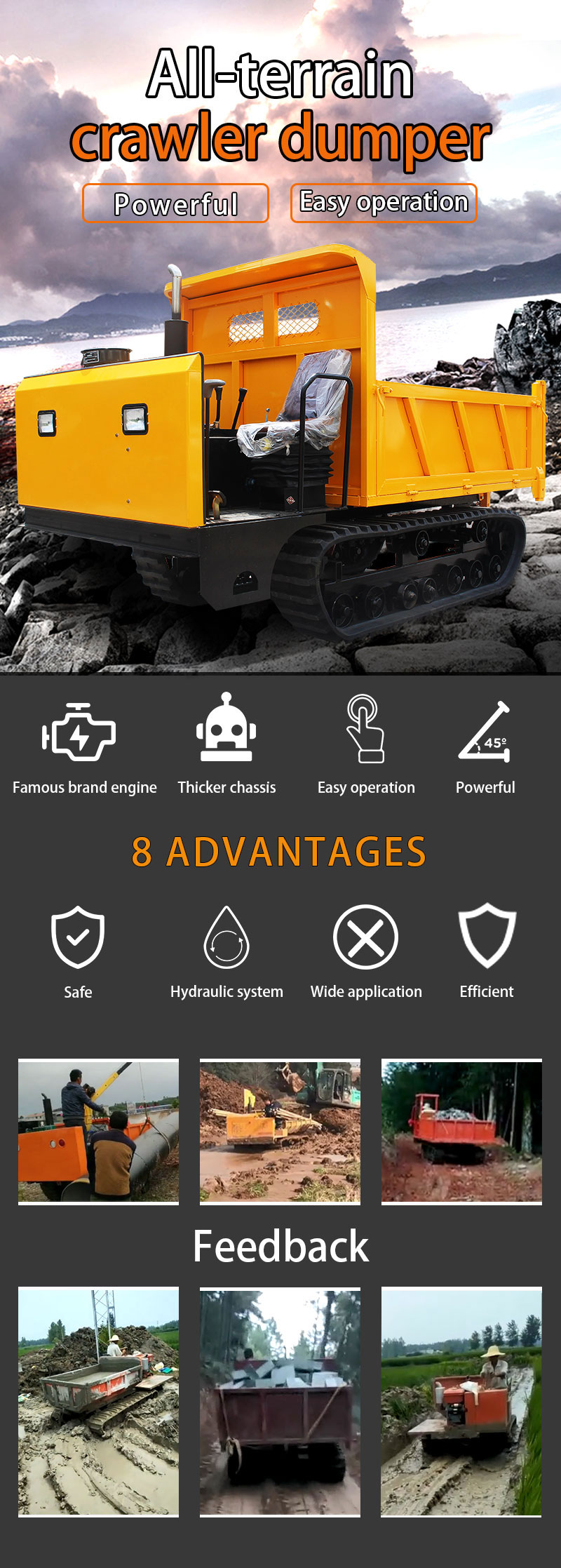 3 ton crawler truck-Rippa China