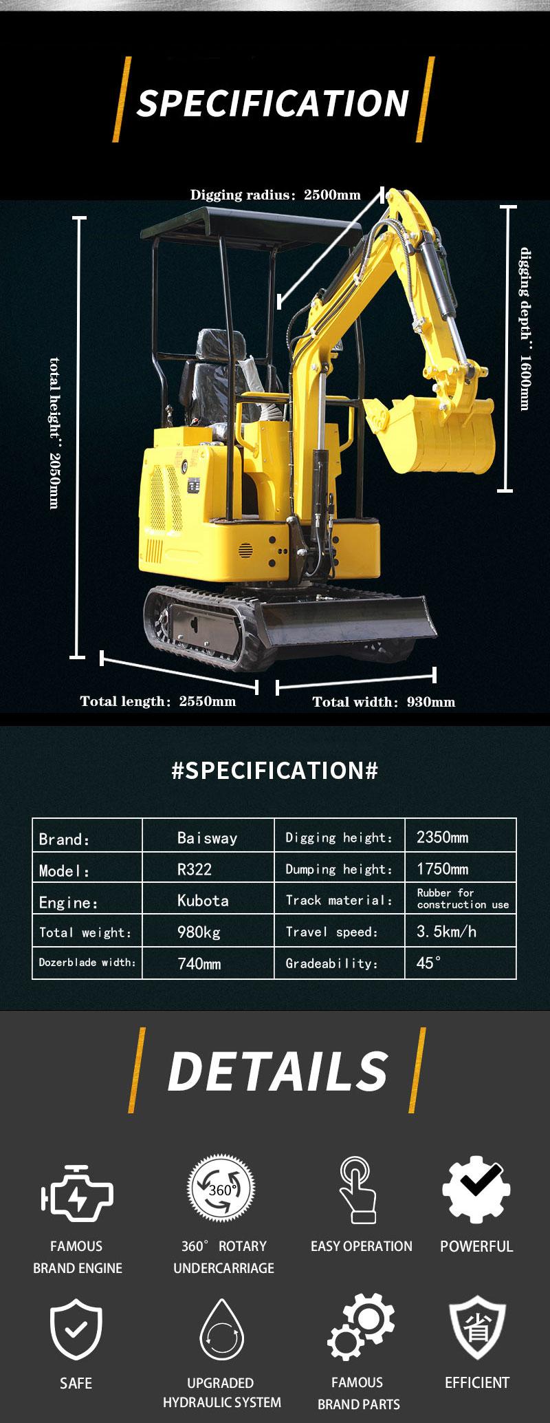 1.2 ton small excavator-Rippa China