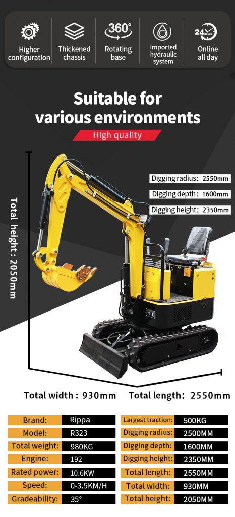 1.3 ton small excavator-Rippa China