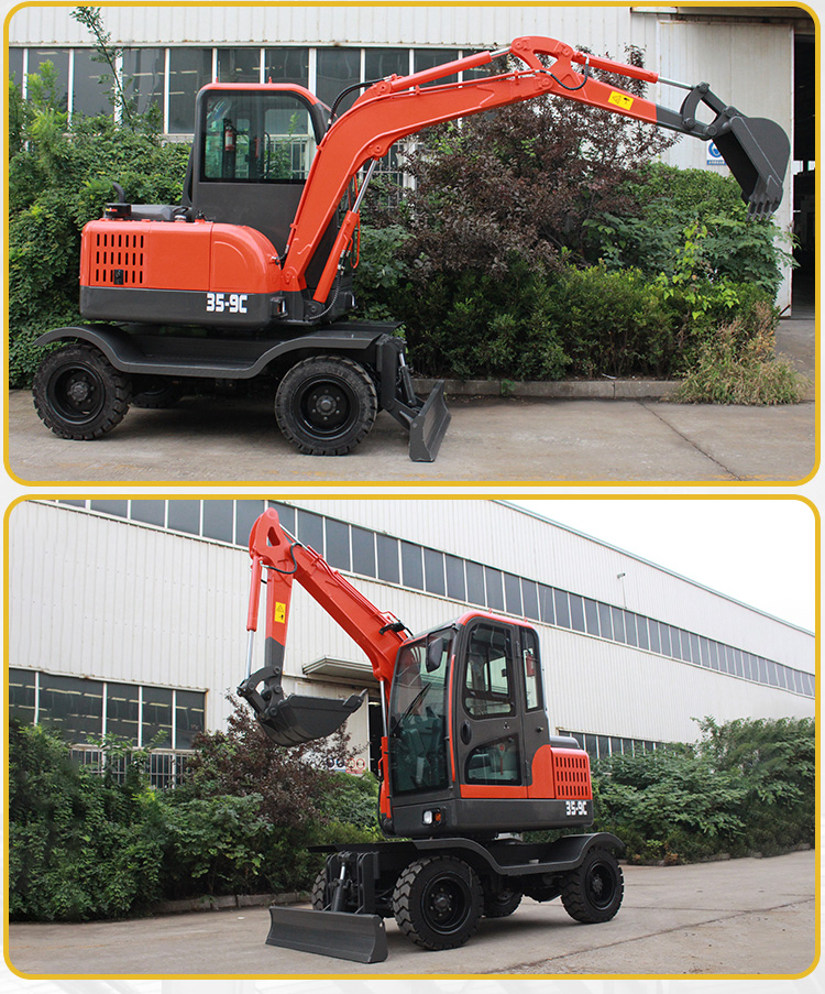Small Excavator – R355 Wheel digging-Rippa China